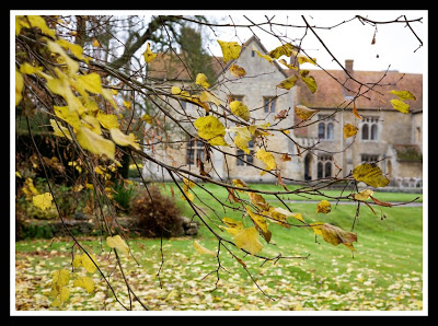 autumnal view of Notley Abbey