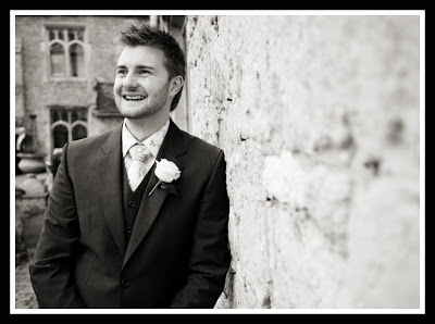 Mark on his wedding day