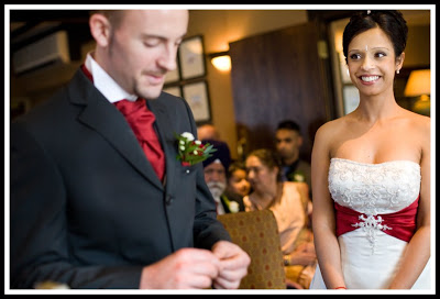 wedding photography at a civil ceremony