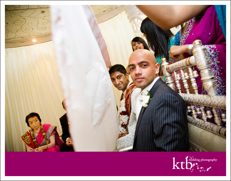 This is an example of our modern, natural wedding photography taken at the Hindu wedding venue.
