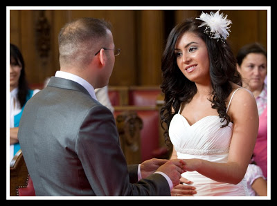 Wedding photography at Islington register office.