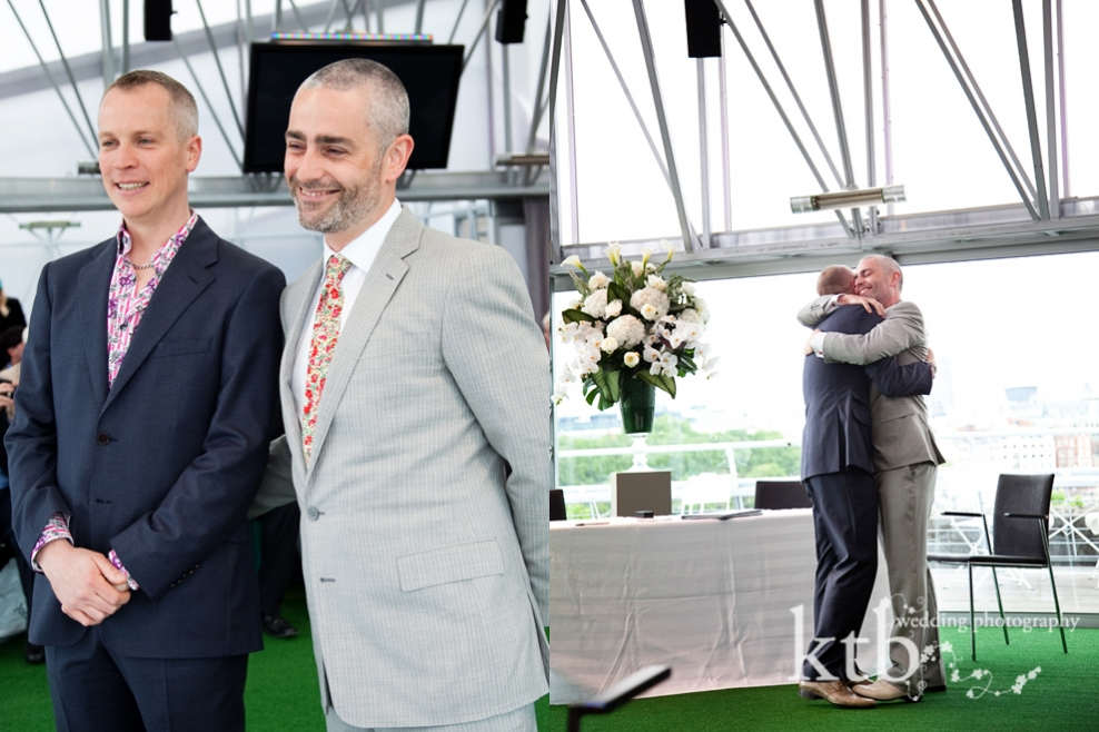 Civil partnership photography in London